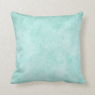 Light Blue Green Watercolor Paper Background Blank Throw Pillow