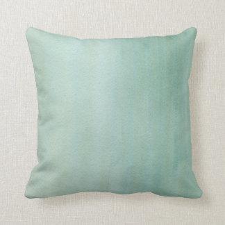 Light Blue Green Watercolor Wash Pillow