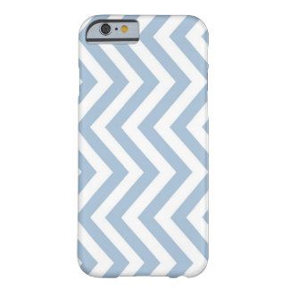 Light Blue Grunge Textured Chevron Barely There iPhone 6 Case
