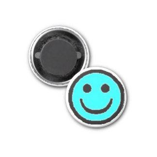 Light Blue Happy Face Magnet