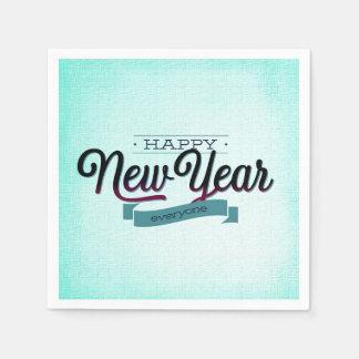 Light Blue Happy New Year Everyone Napkin