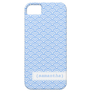 Light Blue Japanese Seigaiha Pattern Case For The iPhone 5