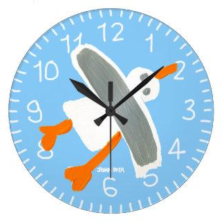 Light Blue John Dyer Seagull wall clock