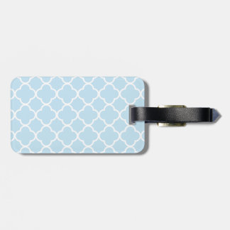 light blue lace luggage tag