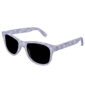 Light Blue Lace Pattern Sunglasses
