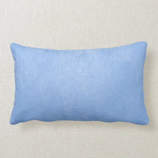 light blue leather texture pillow