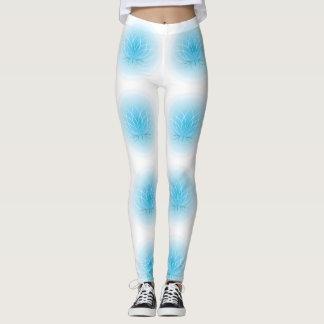 Light Blue Lotus Leggings
