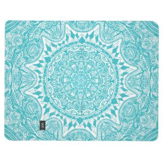 Light Blue Mandala Pattern Journal