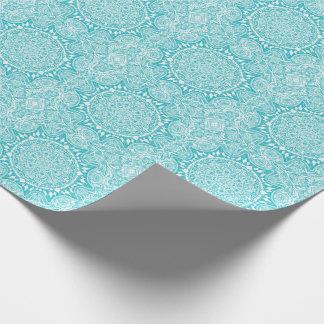 Light Blue Mandala Pattern Wrapping Paper