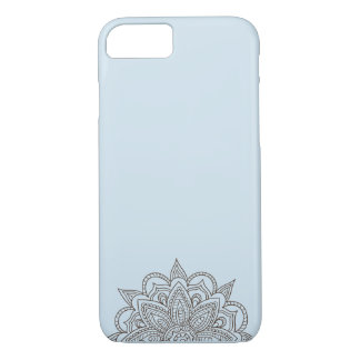 Light Blue Mandala Phone Case