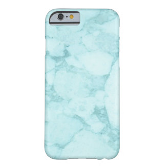 Light Blue Marble Barely There iPhone 6 Case