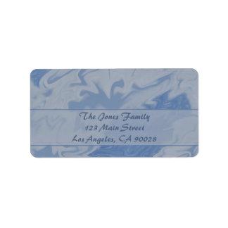 Light Blue Marble Label