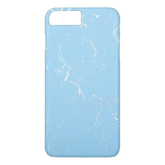 Light Blue Marble Patterned iPhone 8 Plus/7 Plus Case