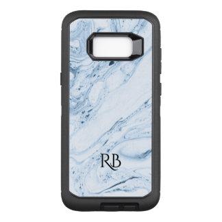 Light-Blue Marbleized Watercolors Swirls OtterBox Defender Samsung Galaxy S8+ Case
