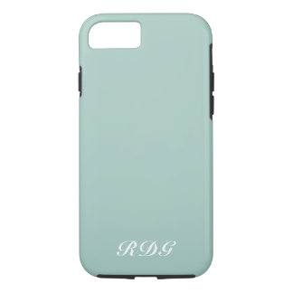 Light Blue Modern Professional With White Monogram iPhone 8/7 Case