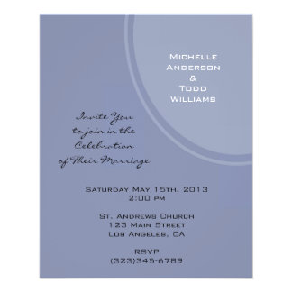 Light Blue Modern Wedding Flyers
