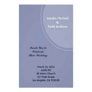 Light Blue Modern Wedding Stationery