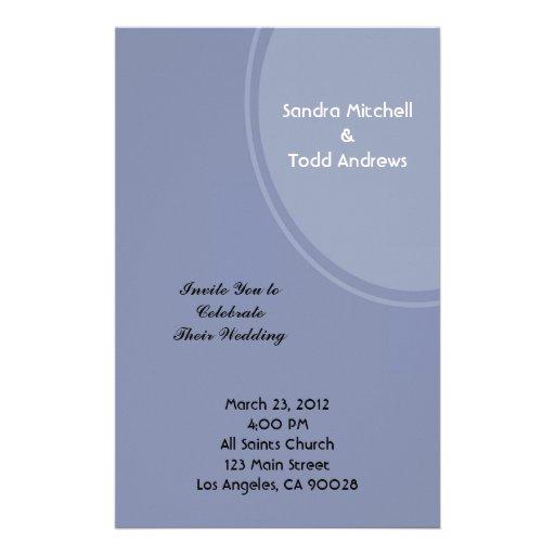 Light Blue Modern Wedding Stationery Paper