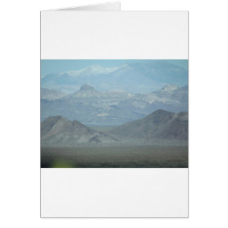 Light Blue Mountains Greeting Card