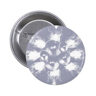 Light blue music speakers 2 inch round button