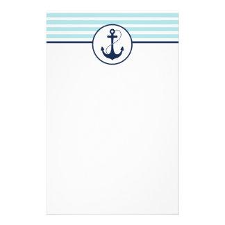 Light Blue Nautical Anchor Stationery