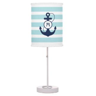 Light Blue Nautical Anchor Table Lamp
