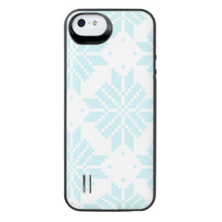 Light blue Nordic Star Pattern iPhone SE/5/5s Battery Case