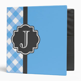Light Blue on a Black Binder