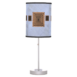 light blue orange mirror decorative lamp shade