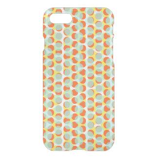 Light Blue Orange Yellow Dot Deflector iPhone 7 Case