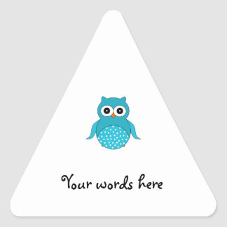 Light blue owl stickers