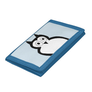 Light blue owl wallet. trifold wallet