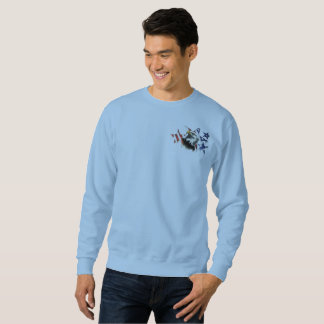 Light blue patriotic sweatshirt