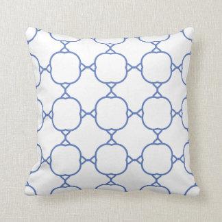 light blue pattern throw pillow