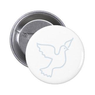 Light Blue Peace Dove 2 Inch Round Button