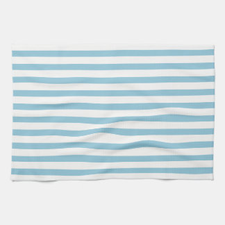 Light Blue & Pure White Stripes Kitchen Towel