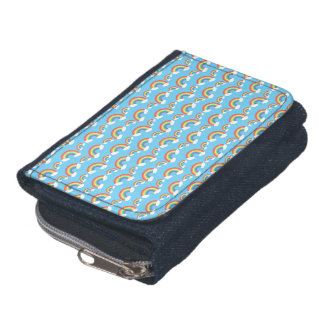Light blue rainbow pattern wallet
