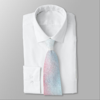 Light Blue & Red Watercolor Wedding Tie