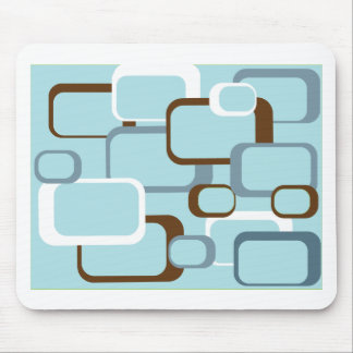 light blue retro squares mouse pad