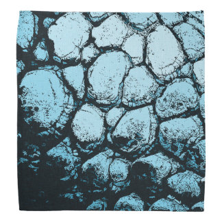 Light Blue rocks pattern, dark rocky cave wall Bandana