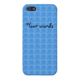 Light blue roses pattern iPhone 5 case