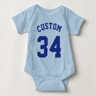 Light Blue & Royal Baby | Sports Jersey Design Baby Bodysuit