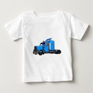 Light Blue Semi Truck in Three Quarter View Baby T-Shirt