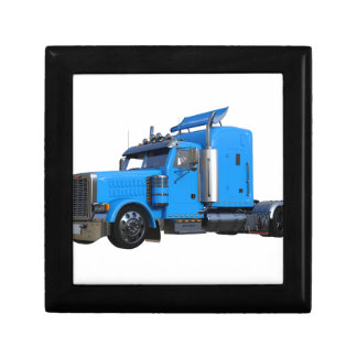 Light Blue Semi Truck in Three Quarter View Gift Boxes