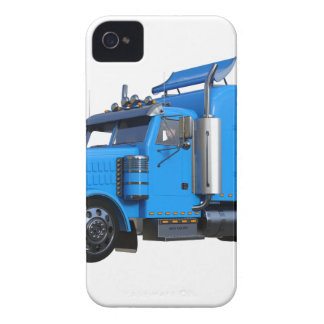 Light Blue Semi Truck in Three Quarter View iPhone 4 Cover