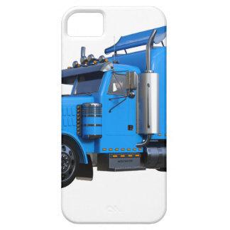 Light Blue Semi Truck in Three Quarter View iPhone 5 Cover
