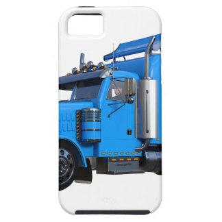 Light Blue Semi Truck in Three Quarter View iPhone 5 Covers
