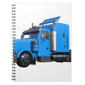 Light Blue Semi Truck in Three Quarter View Notebook