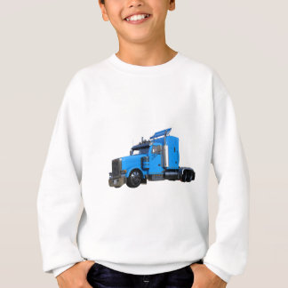 Light Blue Semi Truck in Three Quarter View Sweatshirt
