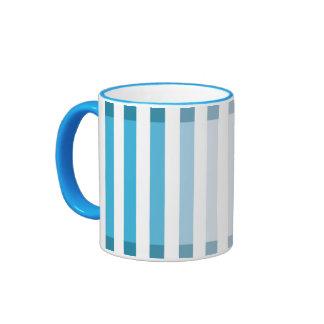 Light Blue Shades Ringer Coffee Mug
